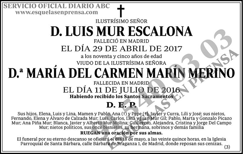 Luis Mur Escalona